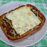ドライカレーのマヨチーズトースト