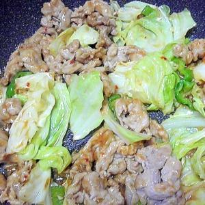 薄切り豚肉とキャベツのオイスターソース炒め