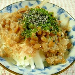 さっぱりおいしい!簡単長芋と納豆のサラダ風