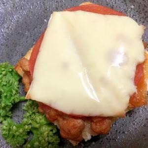 トマトのミートチーズトースト