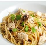 鯛のアーリオオーリオのスパゲッティ