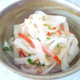 簡単♪食べやすい♪大根とカニカマの中華サラダ