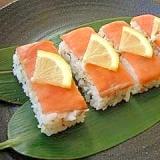 簡単★スモークサーモンの押し寿司