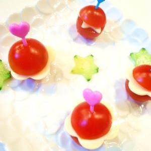 お弁当や子供パーティに☆ミニトマトのピンチョス風。