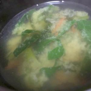 チンゲン菜の味噌汁★