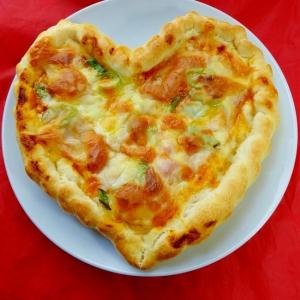 ♡ハートのピザ♡HBで簡単♡