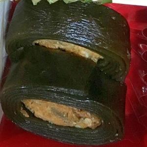 ツナ缶で醤油味のツナの昆布巻き