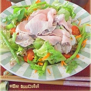 【同時料理(1)】牛しゃぶサラダ