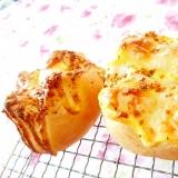 基本のパン生地de❤馬鈴薯とBビッツのチーズパン❤