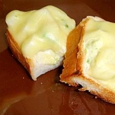 アボカドと山芋のシャキシャキ☆トースト