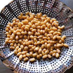 普通の鍋で蒸し大豆