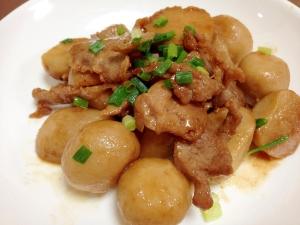 甘辛タレで☆豚肉と里芋の照り焼き