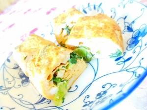 ❤竹輪と小松菜とチーズの卵焼き❤