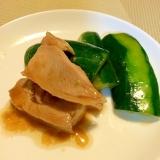 レンジで簡単☆きゅうりと蒸し鶏の和え物