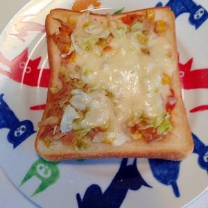 朝ごパン!ピザ風トースト