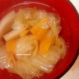 白葱と人参、白菜の和風スープ