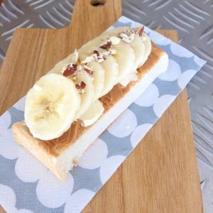 スイーツ感覚♡バナナのオープンサンド♪