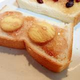 無花果ジャムとバタークッキーとザラメ糖のトースト