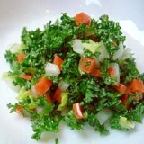鉄分補給に最適☆レバノン料理の「タブーリ」