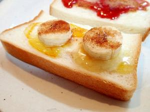 クリームチーズとマーマレードとバナナのトースト
