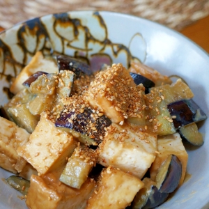 ナスと生揚げの味噌炒め