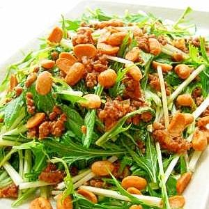 水菜のカリカリ納豆サラダ