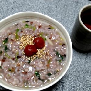 赤米と雑穀の七草粥☆炊飯器使用