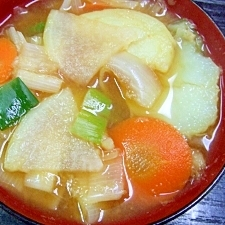 葱&生姜たっぷりお味噌汁
