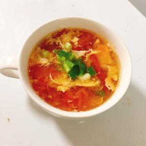 トマトと卵のコンソメスープ