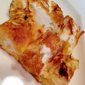 キャベツ入りの卵焼き
