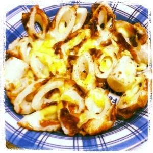 【簡単】ちくわとチーズのピリ辛焼き