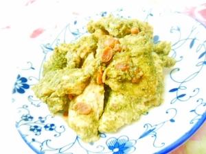 韓国味噌de❤鶏むね肉と青海苔のレンジ蒸し❤