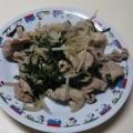 豚肉とニラもやしの炒め物