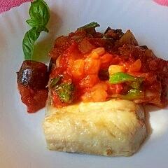 青魚と野菜の栄養をたっぷり 鯖ソテーのトマトソース