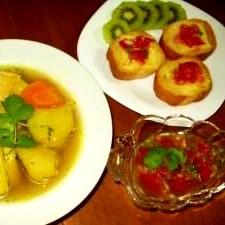 秋の野菜たっぷりのコロンビアスープ
