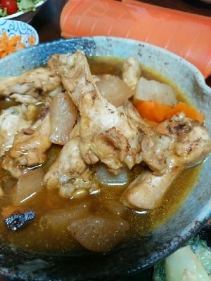 鶏手羽元と大根人参のカレー煮