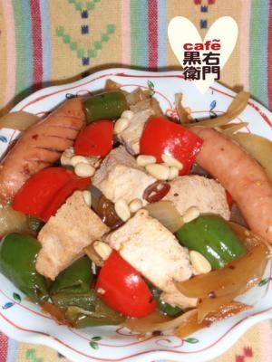 豆豉のコクと香りで!凍り豆腐とピーマンの炒め物