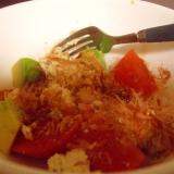 トマトとアボガドのカッテージチーズサラダ☆少し和風