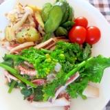 イカの菜の花のソテーダイエットプレート