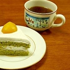 白あん&栗入り抹茶のスポンジケーキ