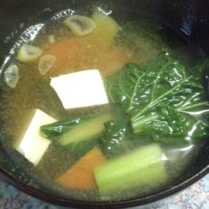 雪菜と豆腐のお味噌汁