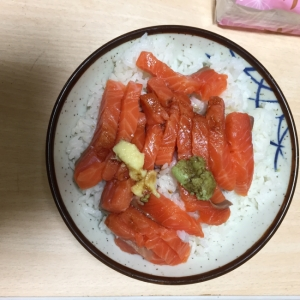 サーモン丼ご飯