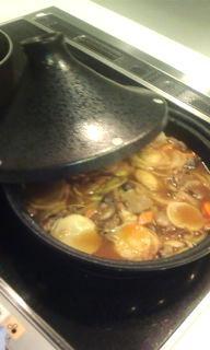 タジン鍋でカレー