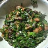 わらびといんげん豆の小鉢