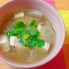 大根と豆腐のそぼろ汁