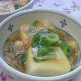 お豆腐のトロ~リえのきだけあんかけ