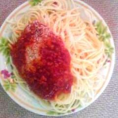 ボロネーゼのようなトマトたっぷりミートソース★