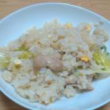 鶏肉とレタスの焼き飯