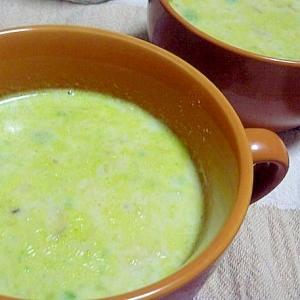 アボガドを入れた豆乳のポタージュスープ