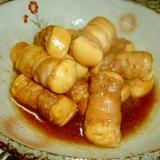 熱々☆豚バラ肉の肉巻豆腐♪